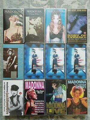 Madonna Selection of 12 videos VHS PAL tapes fan-made Sacrifice MTV Girlie Show