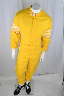 Custom Fit Rjs Racing Sfi 3-2A/5 Classic 1 Pc Suit Fire Suit Mustard Yellow