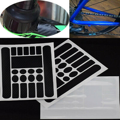 NEW HRC velvet suede black chainstay protector road mountain sticker decal