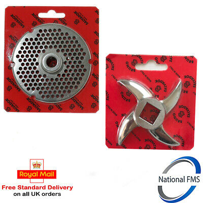 Salvador No 32 Stainless Steel Mincer Plate ( 8mm Hole ) & Mincer Blade