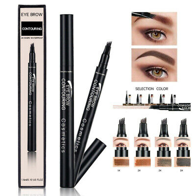 4 Tips Patentierter Microblading Tattoo Eyebrow Ink Pen Sketch Augenbrauenstift*