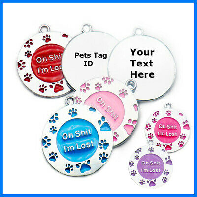 Pets Tag Name lost address Personalised Christmas Gift Print Dog Cat Pet ID Tags