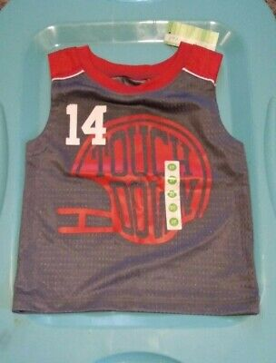 NWT Toddler Boys 2T Peanut & Ollie Football Jersey Tank