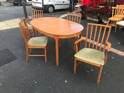 Retro Mid Century McIntosh Extending Table and 4 Chairs