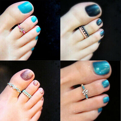 Foot Beach Rhinestone Barefoot Girl Rhinestone Finger Jewelry beautiful Toe Ring