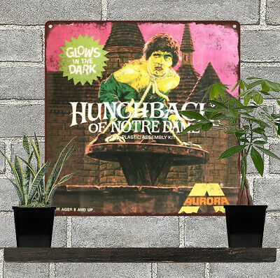 "Aurora Hunchback of Notre Dame model Garage Man Cave Metal Sign 12x12"" 60772"