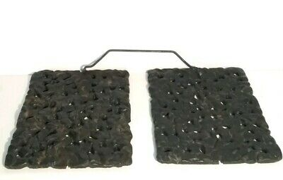 Antique Cast Iron Carriage Foot/Food Warmers W/ Handle Unique