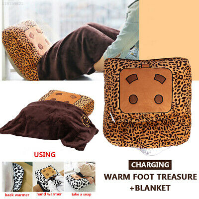 81F5 Warm Hand Practical Comfortable Home Blanket Winter Washable Leopard USB