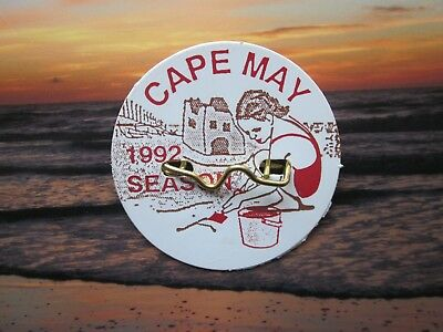 1992   Cape   May   New  Jersey  Seasonal  Beach  Badge/Tag    26   Years   Old