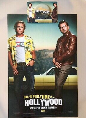 "Once Upon a Time in Hollywood Movie Poster 11"" By 17"" Quentin USA & One Button"
