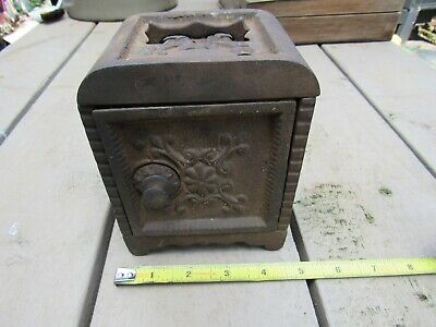 Antique Cast Iron Bank Floor Safe Still Kenton Bank