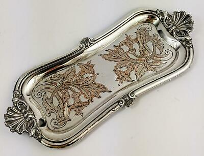 FINE GEORGE III OLD SHEFFIELD PLATE CANDLE SNUFFER TRAY c1810