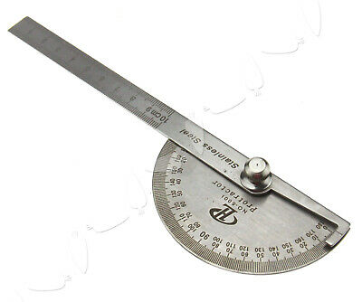 Round Angle Finder Ruler 180° Protractor Craftsman Ruler Stainless Steel