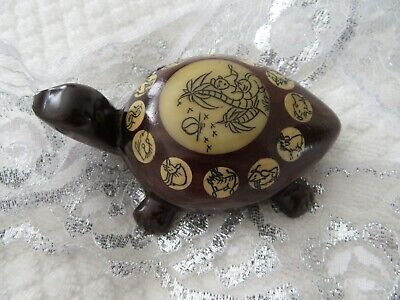 Stunning  New, Mahoganny Wood Turtle With Hidden Compass.  So Cute