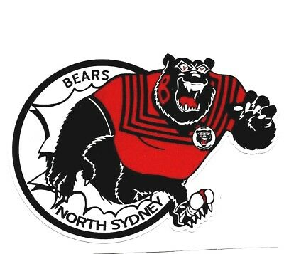 THE BEARS of NORTH SYDNEY Vinyl Decal Sticker RUGBY LEAGUE NRL