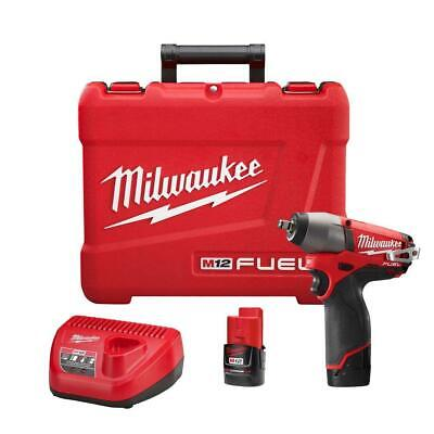 M12 FUEL 12-Volt Lithium-Ion Brushless Cordless 3/8 Impact Wrench Kit 2454-22