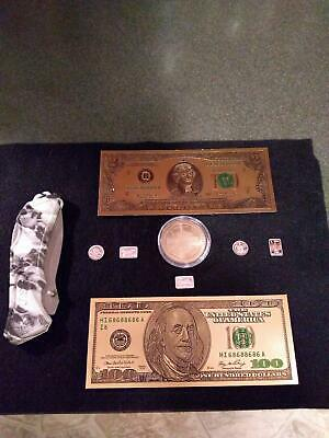 Junk Drawer LOT 5 - .999 silver rounds (Skull, Pirate, Gun, Bike, etc), Harley D