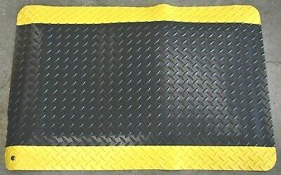 "New Wearwell Anti-Fatigue UltraSoft Diamond Plate Beveled 15/16"" Thick 2'x3' Mat"