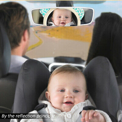 Kids Baby Wide View Rear Safety Car Back Seat  Mirror Headrest Mount  Adjustable
