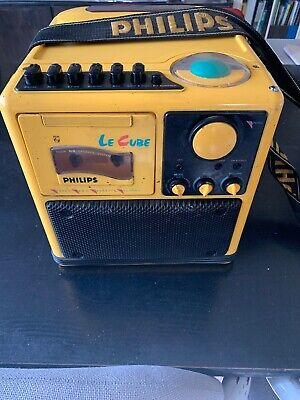 Philips Vintage 1985 Le Cube Stereo Radio Cassette Recorder