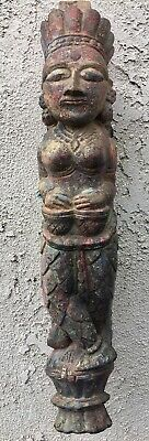 Large Antique Southeast Asian Wood Carved Bracket / Figure
