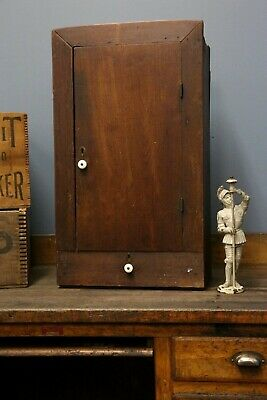 Antique Vintage medicine Cabinet apothecary spice rack cupboard wood drawer old