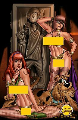 Limited Edition Art -- Scooby Doo Slave Leia Mature -- 25/50 Signed & Numbered