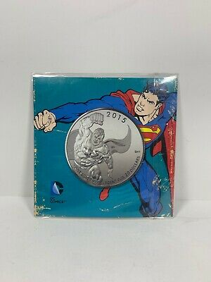 2015 Superman 1/4 Oz Silver Canadian Mint $20 Coin DC Comics New In Packaging!