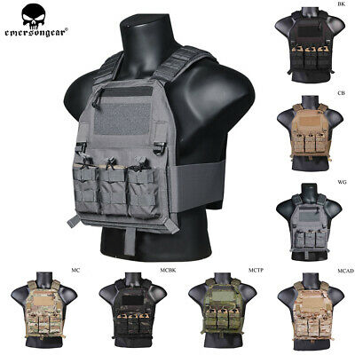 Emerson Tactical LBX-4019 Plate Carrier Vest Airsoft Combat Body Armor Mag Pouch