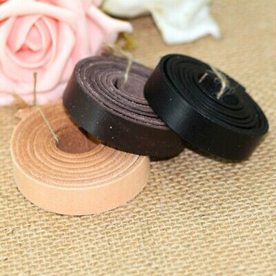 Veg Tanned Flat Cord Genuine Real Leather DIY Craft Strap Tape Rope String