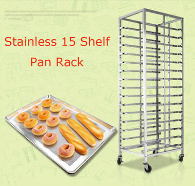TECHTONGDA NEW Stainless 15 Shelf Pan Rack