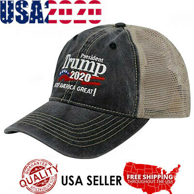 Trump 2020 MAGA Embroidered Hat Keep Make America Great Again Mesh Cap A+++ USA