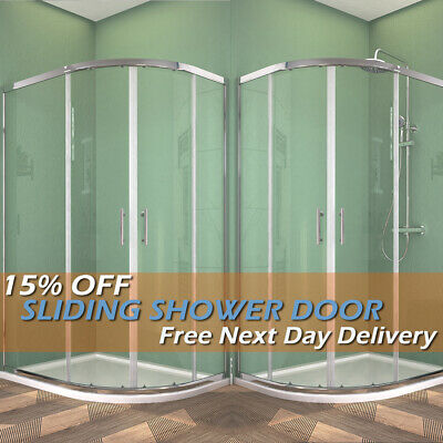 Offset Quadrant Shower Enclosure Corner Cubicles and Tray 1000x800mm NANO/Safety