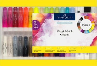Faber Castell 33 Piece Gift Set Gelatos Crayons Water Soluble FC121834