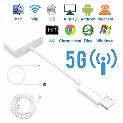 HDMI 1080P 4K Dongle TV Streamer DLNA Airplay 5G Youtube Miracast iOS Android