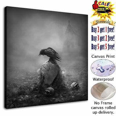 "Halloween HD Canvas print Painting Home Decor Picture  Wall art Poster 12""x12"""