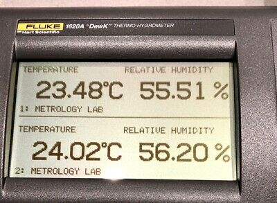 Fluke 1620A-S-156 DewK Thermo-Hygrometer, Standard with two 2626-S Sensors