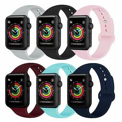 For Apple Watch Series 1/2/3/4 38/40/42/44mm Soft Silicone Sports Band Strap