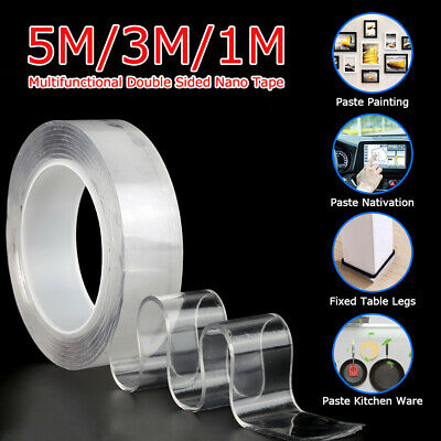 Multi-Function Nano Magic Tape Reusable Clear Gel Double-Sided Tape Traceless