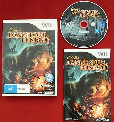 Cabela's Dangerous Hunts 2011 Game for Nintendo Wii / Wii U PAL complete in box