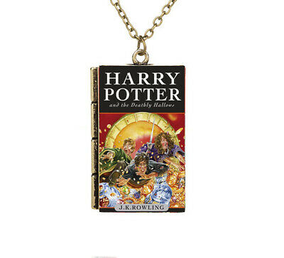 New Miniature Harry Potter and the Deathly Hallows TINY Book 7 Pendant Necklace