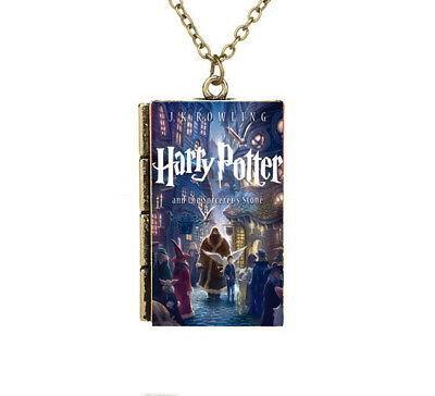 Miniature Harry Potter and the Sorcerer's Stone TINY Gray Book Pendant Necklace