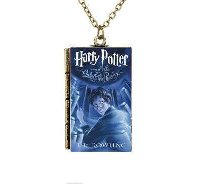 Miniature Harry Potter and the Order of Phoenix TINY Gray Book Pendant Necklace