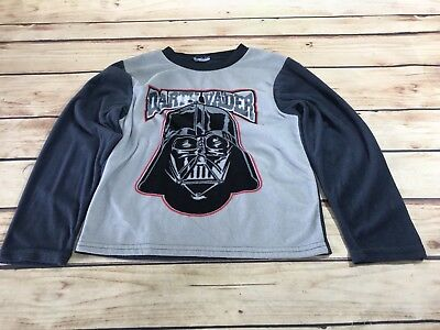 Toddler Boys Pajama Top Shirt STAR WARS DARTH VADER Fleece Gray Long Sleeve