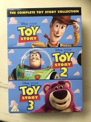 Toy Story 1-3 Collection (DVD, 2010, 3-Disc Set, Box Set) used, great condition