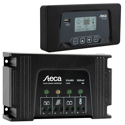 Solar Charge Controller Steca Solarix 2020-X2 20A & PA LCD1 remote display