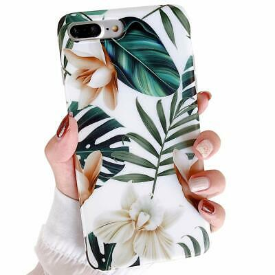 Hybrid Shockproof Soft Flower Thin Case Cover For iPhone XR XS Max 7 8 Plus 6s X