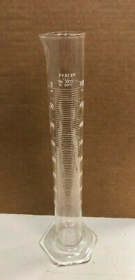 Pyrex 3025 Graduated Mixing Cylinder 500 mL Chemistry Lab Glassware