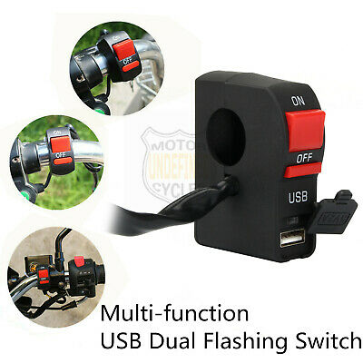 USB Phone Charger Multi-function Electric Auto car Motorbike Handlebar Switch