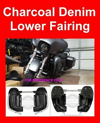 Crushed Ice Pearl Lower Vented Fairing For Harley Touring Street Electra 83-19